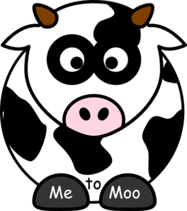 Me To Moo Clip Art