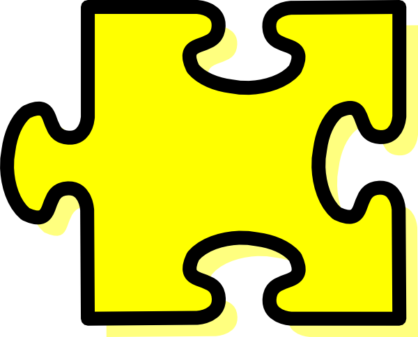 yellow puzzle piece clip art at clker com vector clip art online rh clker com clipart puzzle pieces together clipart 5 puzzle pieces