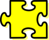 Yellow Puzzle Piece Clip Art