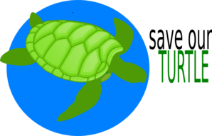 Save Our Turtle Clip Art