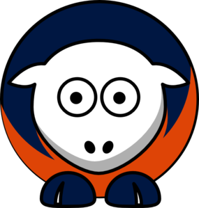 Sheep Detroit Tigers Team Colors Clip Art