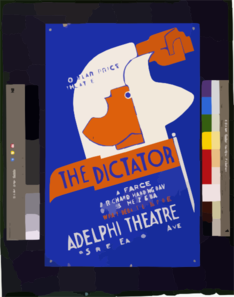Popular Price Theatre Presents  The Dictator  A Farce By Richard Harding Davis / Pratt. Clip Art