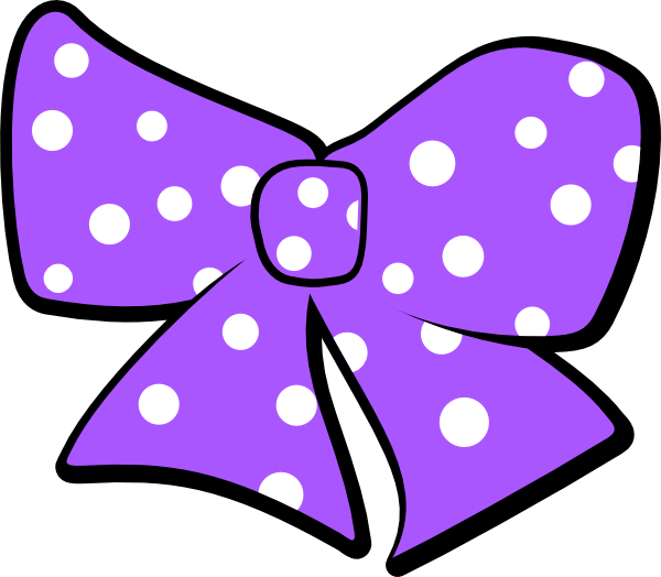 Bow With Polka Dots Cl...