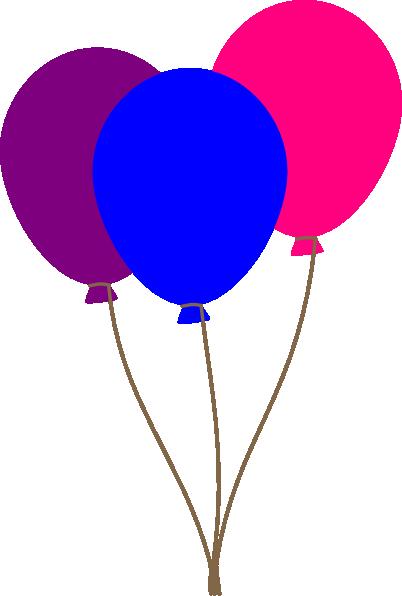 Colourful Balloons Clip Art at Clker.com - vector clip art ...