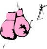 Pink Boxing Gloves Clip Art