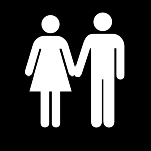 Man And Woman (heterosexual) Icon White Clip Art
