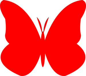 Bright Butterfly  Clip Art