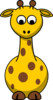 Giraffe Looking Down Clip Art