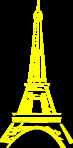 Yellow Eiffel Tower Clip Art