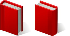 Pair Of Red Books Clip Art