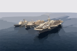 Uss Nimitz (cvn 68), Uss Princeton (cg 59), And Uss Bridge (aoe 10). Clip Art