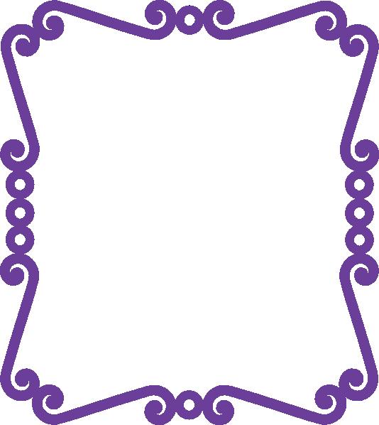 scrolly frame new purple clip art at clkercom vector