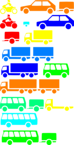 Transportation Silhouettes Boy Colors Clip Art