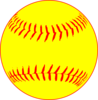 Yellow Softball Clip Art