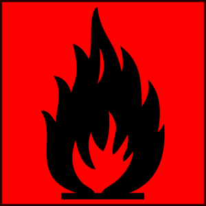 Flammable Red Clip Art