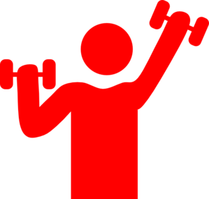 red gym clip art at clker com vector clip art online royalty free rh clker com workout clipart free free fitness clipart images