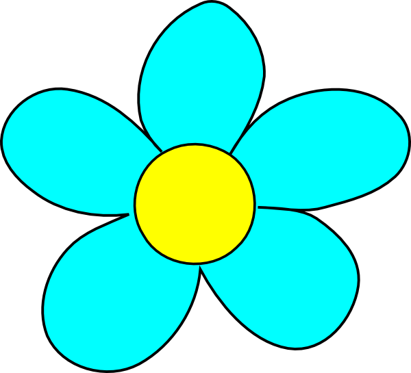 Black Flower 3 Clip Art At Clker Com: Blue Flower Clip Art At Clker.com
