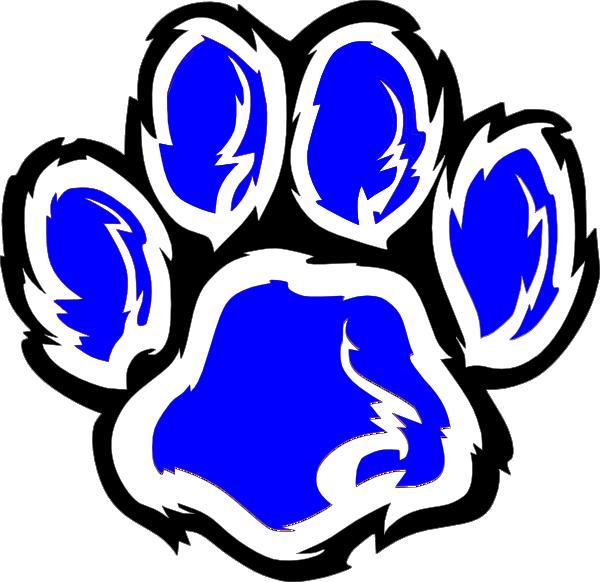 wildcat paw 3 clip art at clker com vector clip art online rh clker com wildcat clip art wildcats clip art