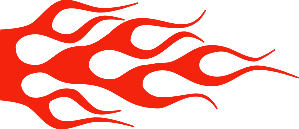 Racing Flame - Solid Color Clip Art at Clker.com - vector ...