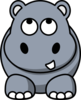 Hippo Looking Up Clip Art