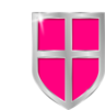 Pink Shield Clip Art