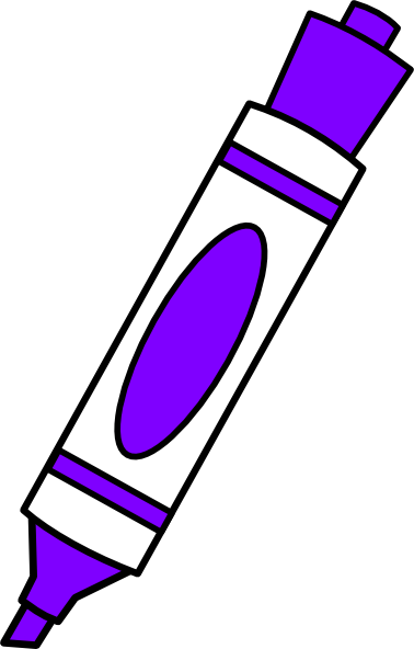 Purple Coloring Marker Clip Art At Clker Com Vector Clip