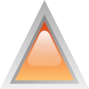 Led Triangular Orange Clip Art