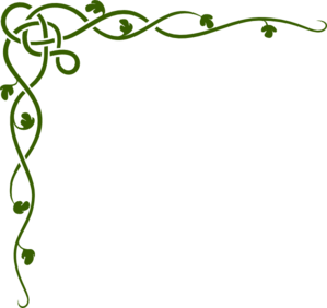 Flourish In Green Clip Art