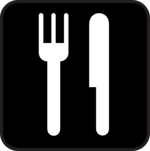 Black Food Icon Clip Art