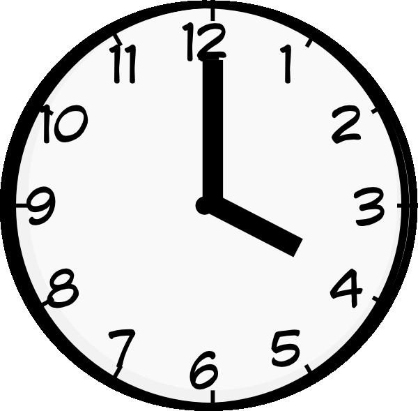 4 o clock clip art at clker com vector clip art online royalty rh clker com Clock That Shows 4 30 Clocks 3 30 Clip Art