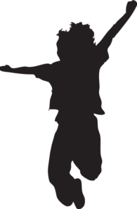Jumping Child Silhouette Clip Art