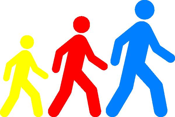 Walking Man Colors Clip Art at Clker.com - vector clip art online ...