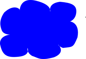 Blue Cloud Clip Art