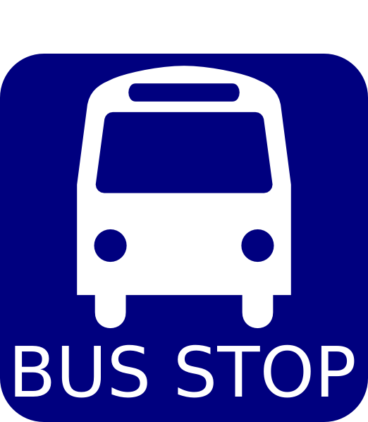 Signing Signature Clipart Bus Stop Sign Blue Clipart