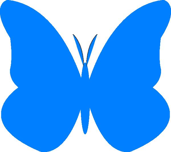 bright butterfly clip art at clker com vector clip art online rh clker com free blue butterfly clipart blue morpho butterfly clipart