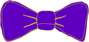 Purple And Yellow Bowtie Clip Art