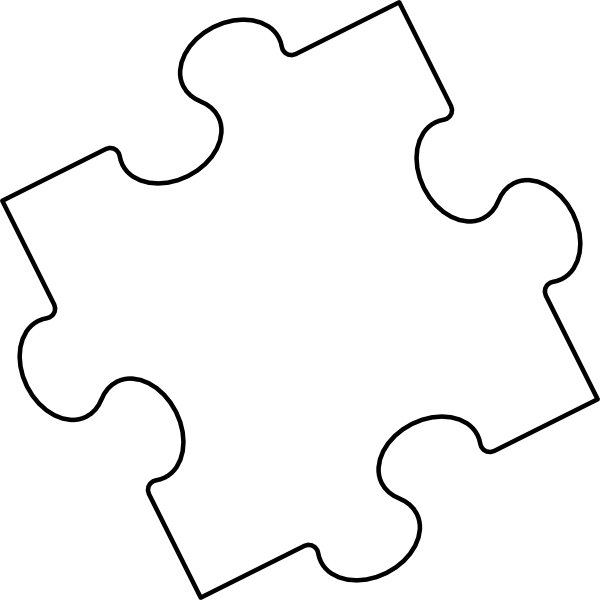 jigsaw puzzle piece outline 2 clip art at clkercom