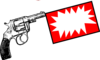 Gun With Bang Flag Clip Art