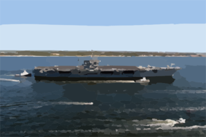 Uss John F. Kennedy (cv 67) Arrives At Naval Air Station Pensacola, Fla., For A Four-day Port Visit. Clip Art