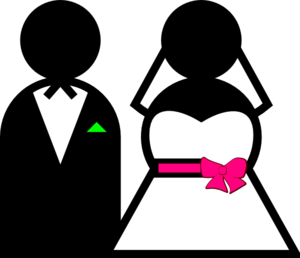 Bride & Groom Clip Art