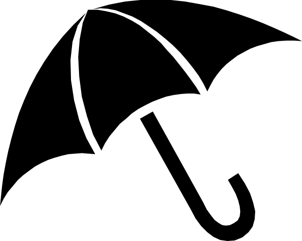 Umbrella Clipart Black And White Black Umbrella ...