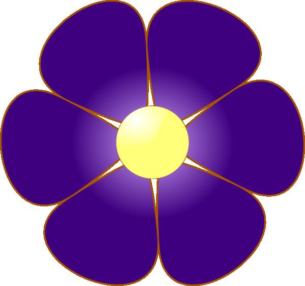 Violet Flower Clip Art at Clker.com - vector clip art ...