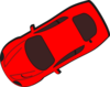Red Car - Top View - 210 Clip Art