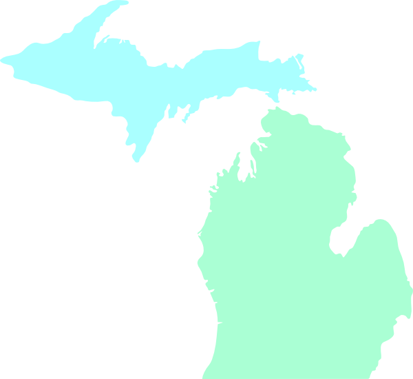Michigan Map Outline Vector michigan map clean teal clip art at clker ...