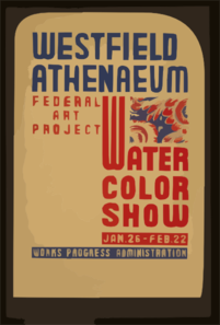 Westfield Athenaeum - Federal Art Project Water Color Show Clip Art