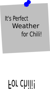 It S Perfect Weather For Chili Clip Art