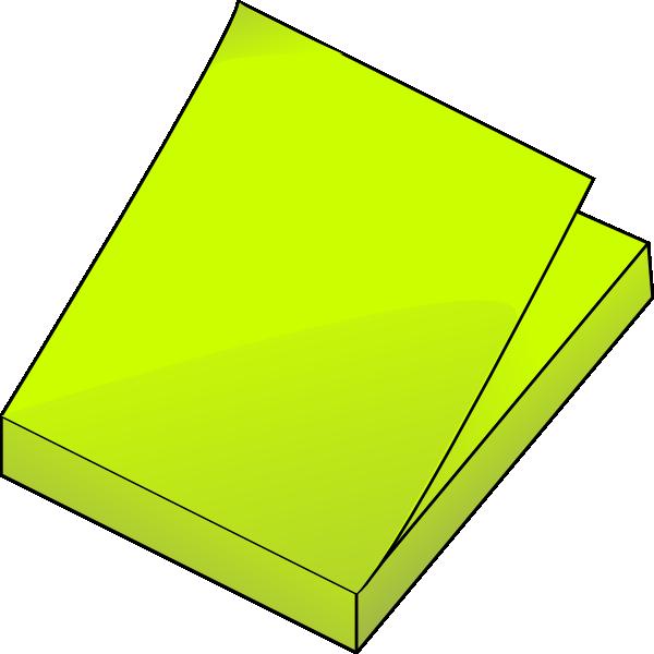 Yellow Post Its Clip Art at Clker.com - vector clip art ... - photo#7