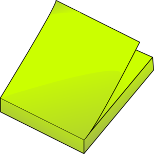 Yellow Post Its Clip Art