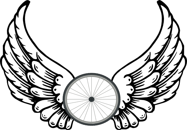 Wheel Angel Wings clip art