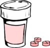 Pink Medication Clip Art